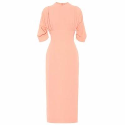 エミリア ウィックステッド Emilia Wickstead レディース ワンピース ワンピース・ドレス Helga crepe midi dress Coral