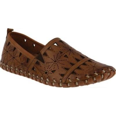 スプリングステップ Spring Step レディース スリッポン・フラット シューズ・靴 Fusaro Slip On Brown Leather