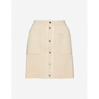 マージュ MAJE レディース ミニスカート スカート Jarina knitted skirt BEIGE