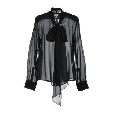 アルマーニ コレッツィオーニ ARMANI COLLEZIONI シャツ ブラック 44 シルク 100% シャツ