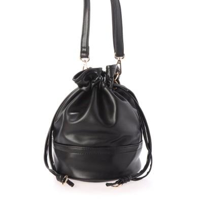 ミニア minia 巾着ショルダーバッグ < ハンドバッグ・ミニショルダー > (289622) (ブラック)