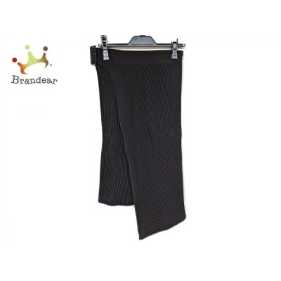 コムデギャルソン 巻きスカート サイズM レディース 新品同様 - 黒 ひざ丈/プリーツ 新着 20210105