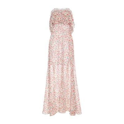 クリスティーナティ KRISTINA TI ロングワンピース&ドレス アイボリー 40 コットン 73% / シルク 27% ロングワンピース&ドレス