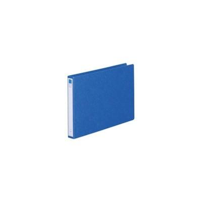 LIHIT LAB./リヒトラブ  リングファイル B4E 2穴 藍 B4判ヨコ型(背幅35mm) F-834 アイ