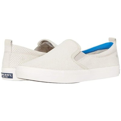 Sperry Crest Vibe PlushWave Pin Perf Leather レディース スニーカー Lead