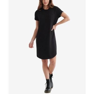 ラッキーブランド ワンピース トップス レディース Cloud Camo-Print Dress Jet Black