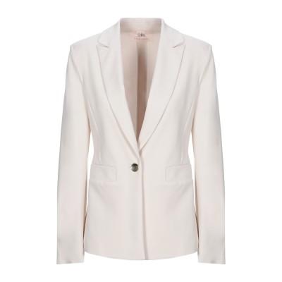 MARIELLA ROSATI テーラードジャケット ベージュ 44 レーヨン 65% / ナイロン 30% / ポリウレタン 5% テーラードジャ