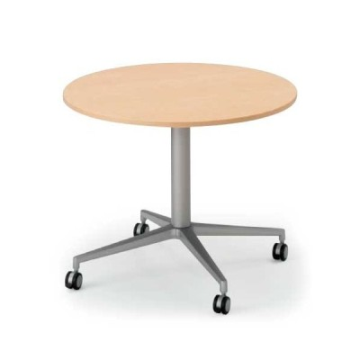 テーブル イトーキ DEシリーズ 十字楕円型 キャスター付φ90 自社便 開梱 設置付