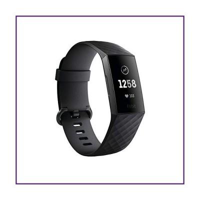 Fitbit 最新フィットネストラッカー Charge 3 並行輸入 (Graphite/Black)【並行輸入品】