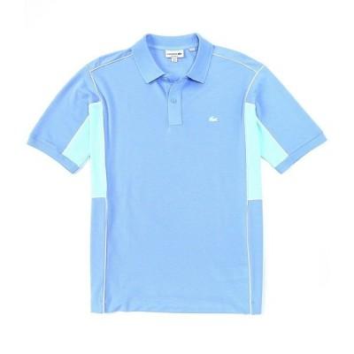 ラコステ メンズ ポロシャツ トップス Color Block Ultra-Light Short-Sleeve Polo Shirt Blue