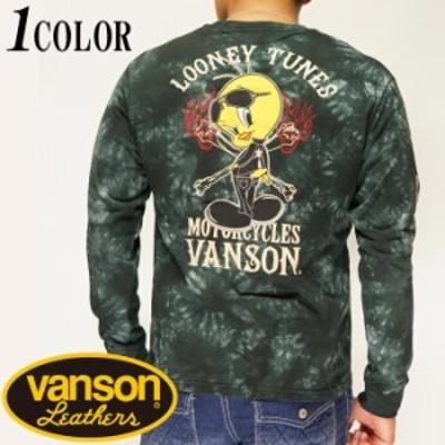 VANSON バンソン  ルーニー・テューンズ コラボ LOONEY TUNES 刺繍 ロングTシャツ メンズ LTV-924/送料無料