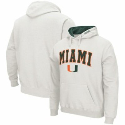 Colosseum コロセウム スポーツ用品  Colosseum Miami Hurricanes White Arch & Logo Pullover Hoodie
