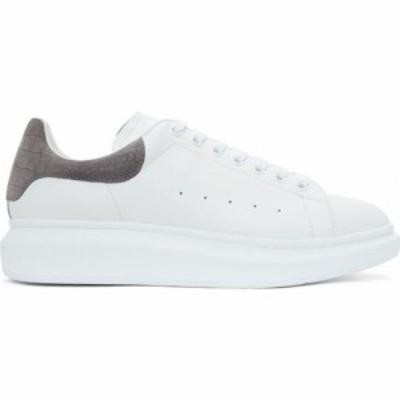 アレキサンダー マックイーン Alexander McQueen メンズ スニーカー シューズ・靴 White and Grey Suede Croc Oversized Sneakers White/