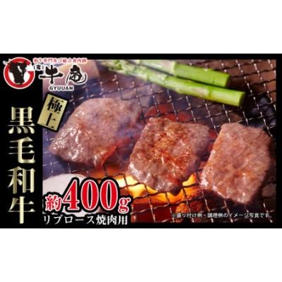 【牛庵】極上黒毛和牛リブロース焼肉用 約400g