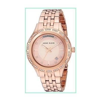 Anne Klein Women's Swarovski Crystal Accented Day/Date Function Rose Gold-Tone Bracelet Watch, AK/3474RGRG【並行輸入品】