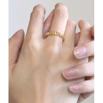 指輪 【YArKA/ヤーカ】silver925 flat link chain motif light ring[chiki2]/シルバー925喜平チ
