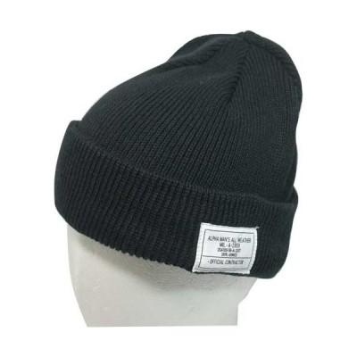 ニット帽子 綿 アルファ  インダストリーズALPHA INDUSTRIES 14914500 黒