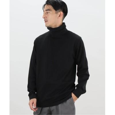メンズ フォーワンセブン エディフィス 【WELLDER / ウェルダー】 TURTLENECK T SHIRT ブラック 3