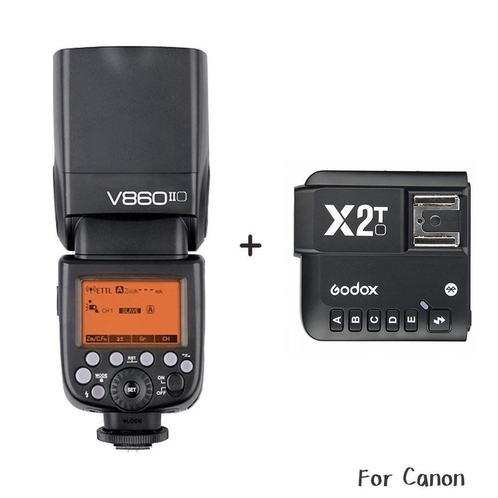 Godox 神牛 V860 C II + X2T 發射器 Canon 二代鋰電池閃光燈 [相機專家] [開年公司貨]