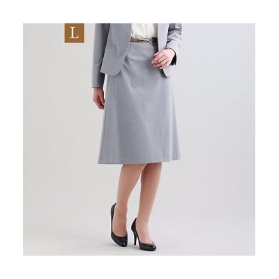 <TRANSWORK L(Women)/トランスワークL> 大きいサイズ【L】【セットアップ対応】【美Skirt】トリアセルクスセミフレアースカート(U3S01307__) グレー【三越伊勢丹/公式】
