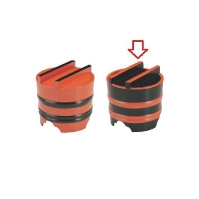 麺桶 (小)釜揚げ黒帯朱 高さ160 直径:165/業務用/新品