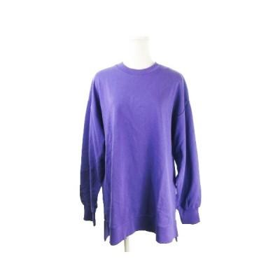 【中古】未使用品 ビス ViS color トレーナー スウェット クルーネック 長袖 薄手 オーバーサイズ F 紫 パープル /CK13 ★ レディース