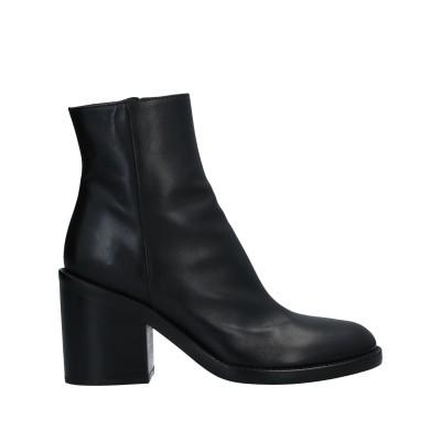 アン ドゥムルメステール ANN DEMEULEMEESTER ショートブーツ ブラック 35 牛革(カーフ) ショートブーツ