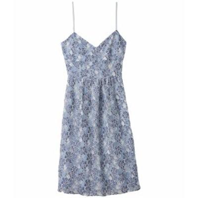 ビービーダコタ レディース ワンピース トップス Two-Tone Lace Sweetheart Midi Dress Blue
