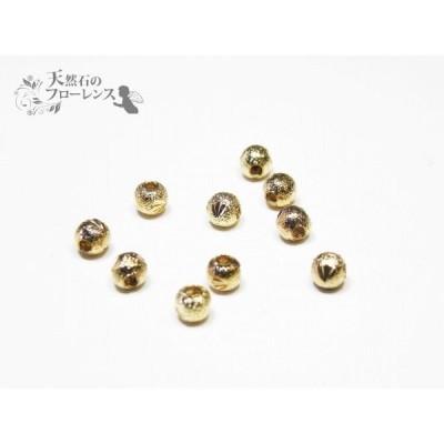 j241 丸玉カット金色 4mm 10個 (アクセサリー金具 )