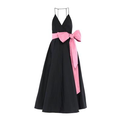 ヌメロ ヴェントゥーノ N°21 ロングワンピース&ドレス ブラック 42 ポリエステル 100% ロングワンピース&ドレス