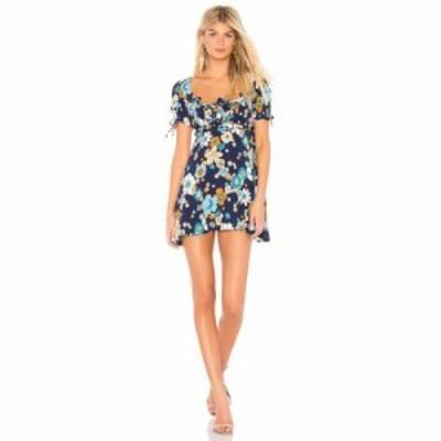 フォーラブアンドレモン ワンピース Magnolia Mini Dress Midnight Blossom