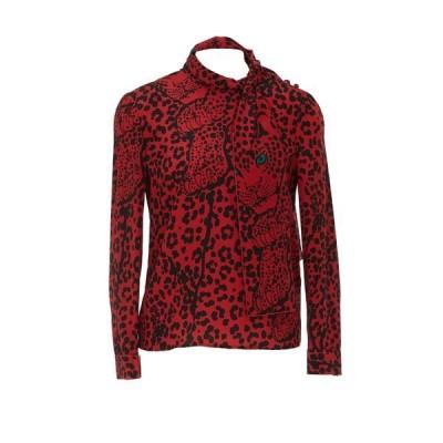 レッドヴァレンティノ レディース カットソー トップス REDValentino Pussybow Leopard Print Blouse -