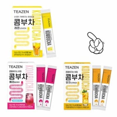 【TEAZEN】コンブチャ味3種X2箱(5g10包入り) 昆布茶 乳酸菌 お茶 スティック 韓国飲料 BTS
