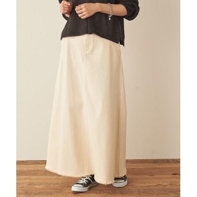 【21SS】むら染フェードAラインロングスカート