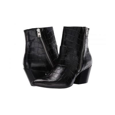 AllSaints レディース 女性用 シューズ 靴 ブーツ アンクル ショートブーツ Aster Ankle Boot - Black Croc