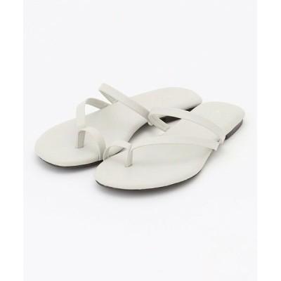 ICB/アイシービー 【マガジン掲載】Flat Sandals サンダル(番号CM24) ライトグレー L