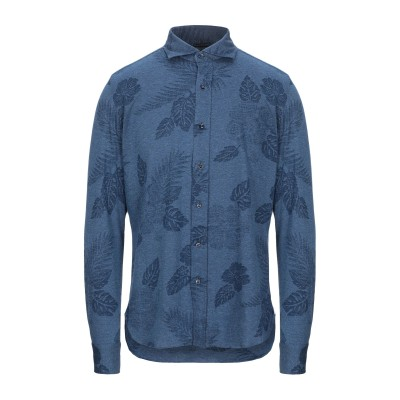GIAMPAOLO シャツ ブルー M コットン 100% シャツ