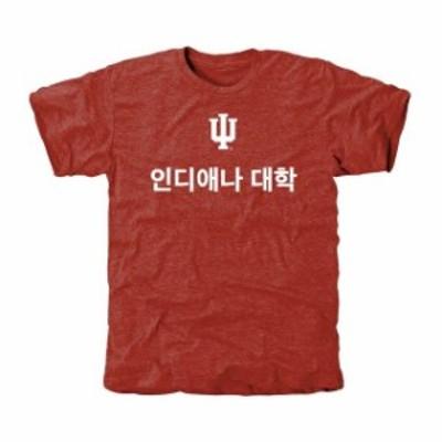 Fanatics Branded ファナティクス ブランド スポーツ用品  Indiana Hoosiers Crimson Language (Korean) Tri-Blend T-Shirt