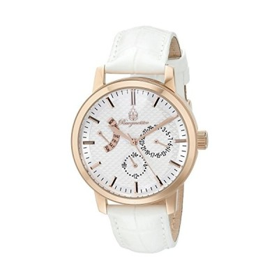 Burgmeister Women's Quartz Watch with White Dial Analogue Display and White Leather Bracelet BM218-316 並行輸入品