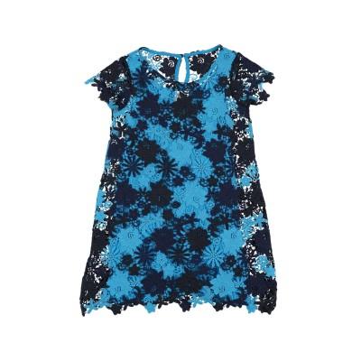 ARMANI JUNIOR ワンピース&ドレス ダークブルー 4 ポリエステル 100% / レーヨン ワンピース&ドレス