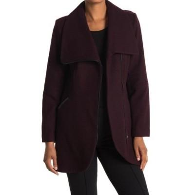 フレンチコネクション レディース ジャケット&ブルゾン アウター Tulip Hem Asymmetrical Hem Wool Blend Coat WINE