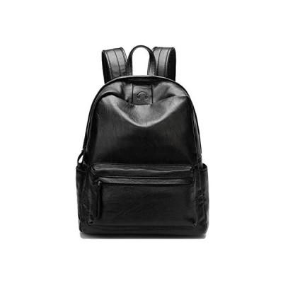 Tisdaini レディース リュックオシャレ カジュアル 2way ショルダー バッグ 用本皮 ハンドバッグ 旅行 学生通販 の (ブラック)