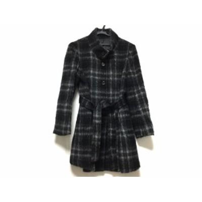 ドゥクラッセ DoCLASSE コート サイズ13 L レディース 黒×グレー 冬物【中古】20200211