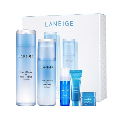 """ラネージュ(Laneige) ベーシックモイスチャー2種セット(乾燥) Skin 200ml + Emulsion 120ml : Moisture  中乾性皮膚""""エッセンシャルパワースキンリファイ"""