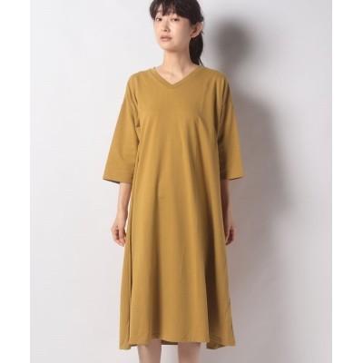 (koe/コエ)ミニ裏毛ワンピース/レディース マスタード