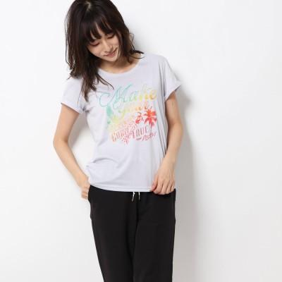 ティゴラ TIGORA レディース フィットネス 半袖Tシャツ TR-3F2609TS モク