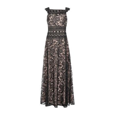 モニークルイリエ MONIQUE LHUILLIER ロングワンピース&ドレス ブラック 14 ポリエステル 100% ロングワンピース&ドレス