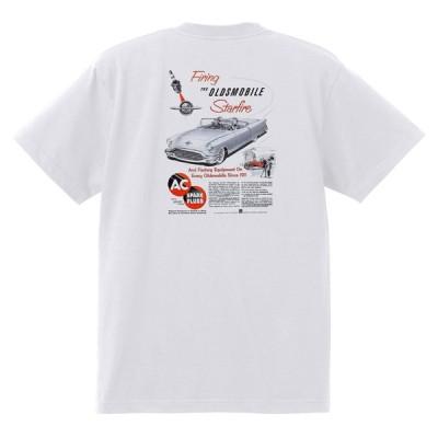 アドバタイジング オールズモビル 640 白 Tシャツ 黒地へ変更可  1954 ゴールデン ロケット 88 98 スーパー ホリデー スターファイア カトラス
