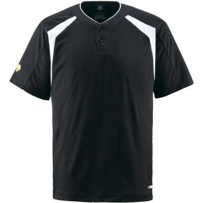 デサント(DESCENTE) コンビネーションTシャツ ブラック
