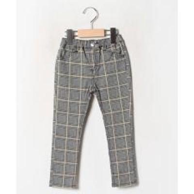 ミキハウスホットビスケッツシンプル10分丈 布帛パンツ(80~120cm)